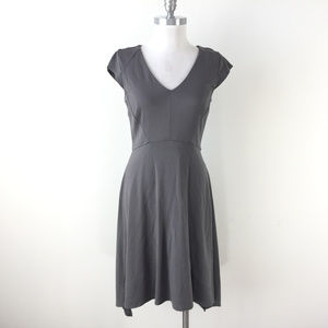 Ann Taylor S 6 Gray A Line Knit dress Cap Sleeve